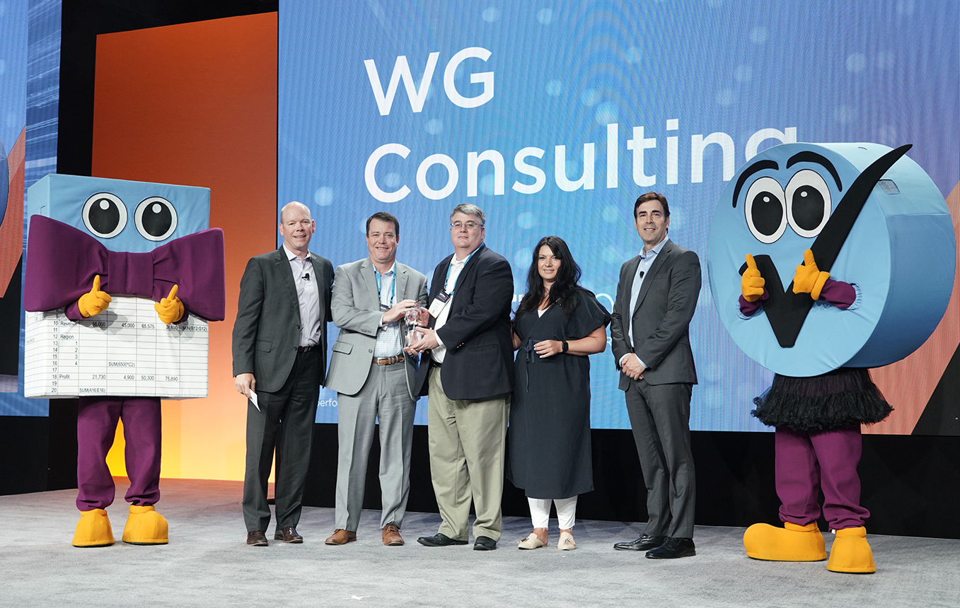 Host Analytics Partner of the Year Award Photo 6-20-19